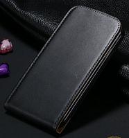 Кожаный чехол флип для Samsung Galaxy S4 i9500 черный