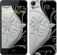 """Чохол на HTC Desire 630 Квіти на чорно-білому тлі """"840c-454"""""""