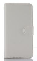Кожаный чехол-книжка для Doogee X5 / X5 Pro белый