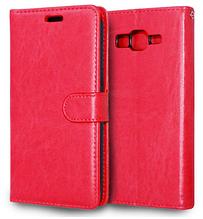Кожаный чехол-книжка для Samsung Galaxy Grand Prime G530 G530H G531 красный