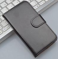 Кожаный чехол-книжка для Sony Xperia М C1905 черный