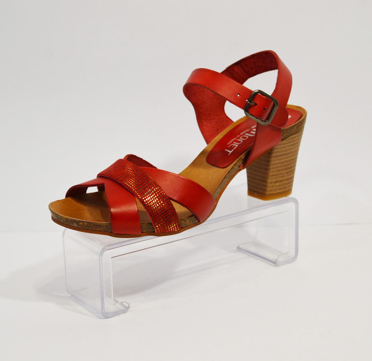 Красные женские босоножки Pilar Monet