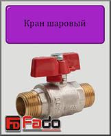 """Кран шаровый Fado NEW 1/2"""" НН PN40 (бабочка)"""