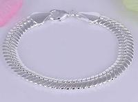 Серебрянный браслет змейка 925 проба (покрытие)