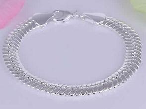 Срібний браслет змійка 925 проба (покриття)