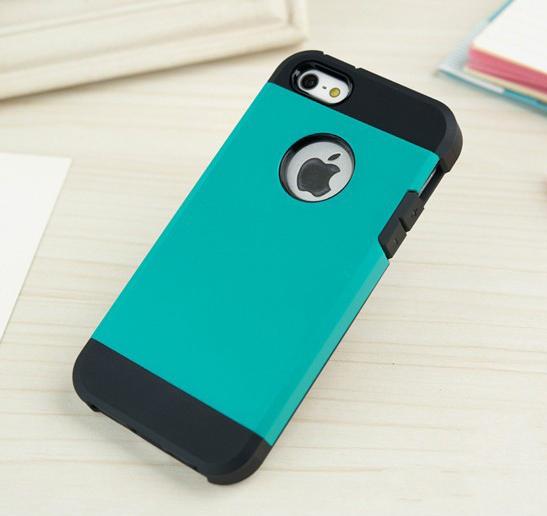 Стильный чехол бампер для iPhone 5 5S голубой