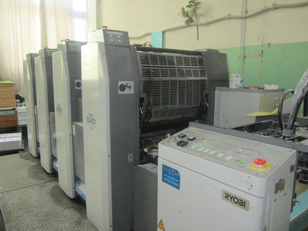 Офсетная печатная четырехкрасочная машина RYOBI 524 GX