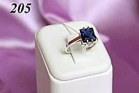 """Серебряное кольцо с золотом """"205"""""""