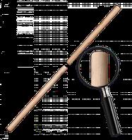 Черенок деревянный, лакированный FLAT. Длина: 120 см Диаметр: 25 мм Bradas