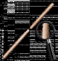 Черенок деревянный, лакированный TRAPEZ. Длина: 120 см Диаметр: 25 мм Bradas