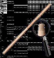 Черенок деревянный, лакированный US (дюймовая резьба). Длина: 120 см Диаметр: 25 мм Bradas