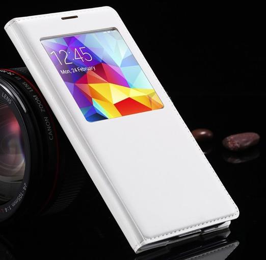 Чехол смарт для Samsung Galaxy S5 i9600 SM-G900 S-View белый