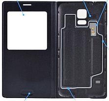 Чехол смарт для Samsung Galaxy S5 i9600 SM-G900 S-View белый, фото 3