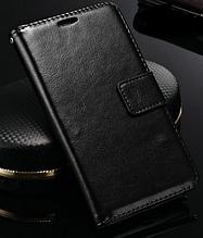 Кожаный чехол-книжка для Samsung Galaxy S5 mini G800 черный