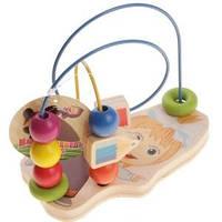 Деревянная логическая игрушка Маша и Медведь на проволоке
