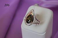"""Серебряное кольцо с золотом """"206"""""""