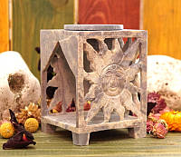 Аромалампа каменная квадратная 12*8*8см.