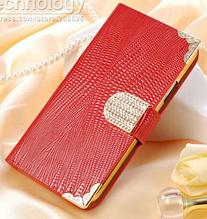 Роскошный чехол-книжка для Samsung Galaxy S5 mini G800 красный