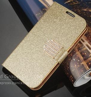 Чехол-книжка для Samsung Galaxy S5 mini G800 золотистый, фото 2
