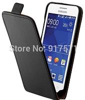 Кожаный чехол флип для Samsung Galaxy Core II Duos G355H черный