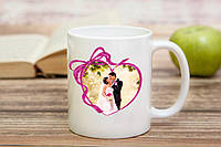 Чашка с фотографией для молодоженов