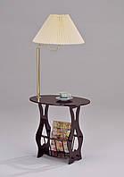 Столик газетница с лампой W-12