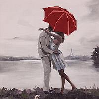 Схема для вышивания бисером Поцелуй под зонтиком 30 x 30, FLS-113