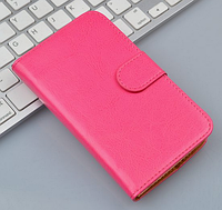 Кожаный чехол-книжка для Lenovo Vibe P1 розовый