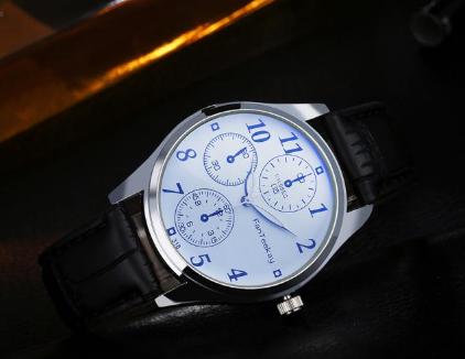 Стильные кварцевые мужские часы, фото 2