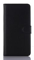 Кожаный чехол-книжка для  Motorola moto E3 черный