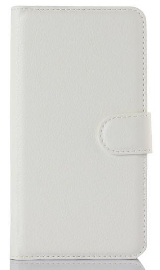 Кожаный чехол-книжка для Lenovo Vibe P1m белый