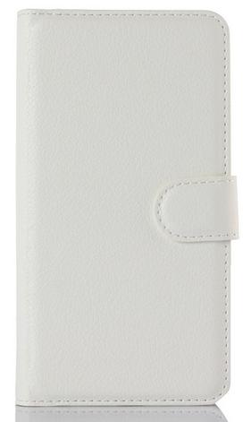 Кожаный чехол-книжка для Lenovo Vibe P1m белый, фото 2