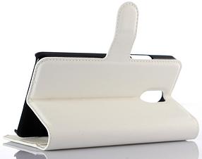 Кожаный чехол-книжка для Lenovo Vibe P1m белый, фото 3