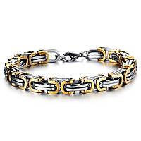 Стильный браслет Steel Rage -1 из хирургической стали и устойчивым золотым покрытием.