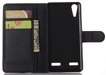 Кожаный чехол-книжка  для Lenovo K3, K30-T, A6000, A6010, A6010 Plus коричневый, фото 2