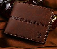 Модный мужской кошелек FrogWatch портмоне коричневый, фото 1