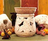Аромалампа каменная круглая (11х9х9 см)