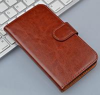 Кожаный чехол-книжка для Sony Xperia ZR M36h C5502 C5503 коричневый