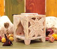 Аромалампа каменная квадратная 9,5*7,5*7,5см.