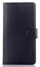 Кожаный чехол книжка для  Nokia Lumia 640XL черный