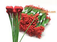 Тайские тычинки Красные на проволоке 5 мм 25 шт/уп