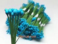Тайские тычинки Синие на проволоке 5 мм 25 шт/уп