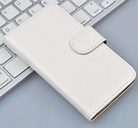 Кожаный чехол-книжка  для Lenovo A1000 / A2800 белый