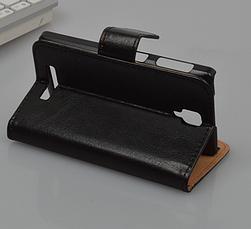 Кожаный чехол-книжка  для Lenovo A1000 / A2800 белый, фото 3