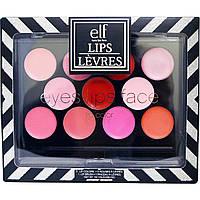 E.L.F. Cosmetics, Lips Palette, 12 Piece, 0,039 унц (1,1 г)