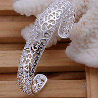 Женский посеребренный браслет