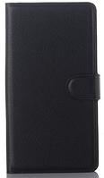 Кожаный чехол книжка для  Nokia Lumia 950XL черный