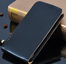Кожаный чехол флип для  LG L80 черный