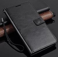 Кожаный чехол книжка для Google Nexus 6 черный