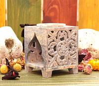 Аромалампа каменная квадратная 9,5*7,5*7,5см